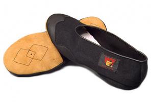 Schuhe mit ledersohle